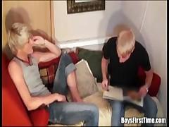 Two blonde boys fucking