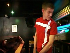 Legal age teenager homo life in bar
