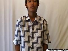 Thai Gay Lad Yod Strokes Cock