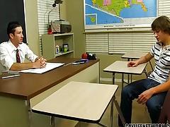 Lewd student cheats with the teacher