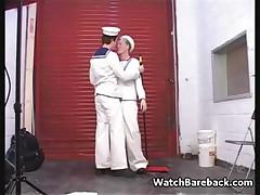 Twink sailors sucking ramrod