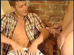Golden boys: 2 guys fucking and engulfing and cumming