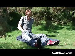 Ray jerking off in a park 1 by gotblake part1