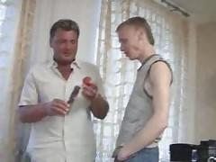 Big older man teaches sweet twink