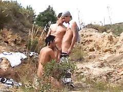 Chain Kidz three-some bareback sex